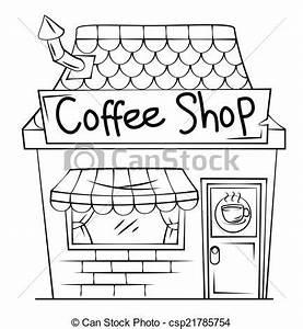 Clipart Vector of Coffee Shop csp21785754 - Search Clip ...