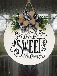 Door, Hanger, Home, Sweet, Home, Sign, Front, Door, Decor, Wood, Door