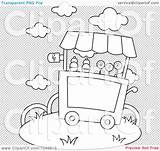 Ice Cream Outline Cart Illustration Coloring Clip Background Scoop Rf Royalty Truck Transparent Icecream Bnp Studio Area sketch template