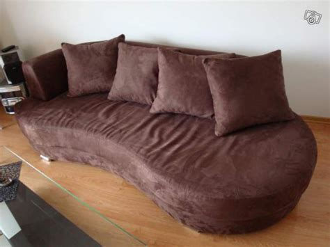 nettoyer un canapé en peau de peche troc echange canapé méridienne fly marron 3 4 places sur