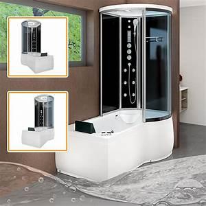 Badewanne Und Dusche Kombiniert : acquavapore dtp8055 sw whirlpool badewanne dusche duschkabine 170x98 ebay ~ Buech-reservation.com Haus und Dekorationen