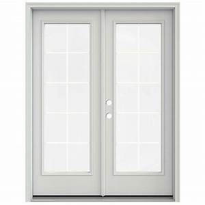 Jeld wen 60 in x 80 in primed prehung right hand inswing for 60x80 french doors