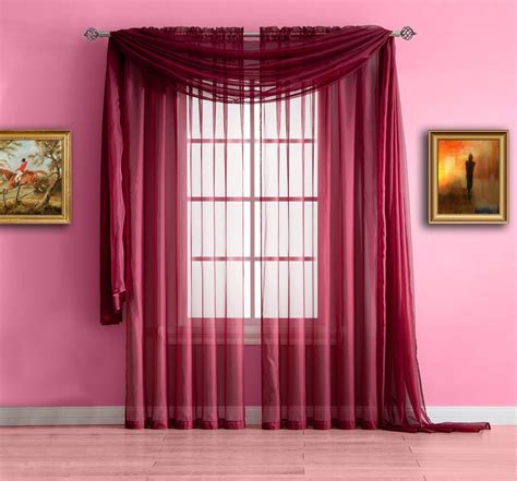 style burgundy curtains  living room classy