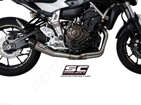 yamaha mt 07 sc project conic exhaust by sc project yamaha mt 07 2018 y14 c21a