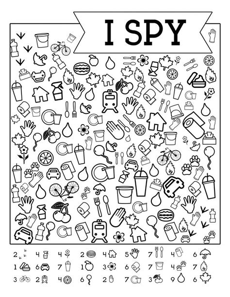 printable road trip games  kids  spy coloring