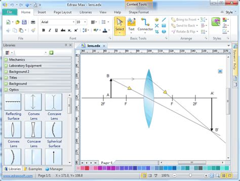 Optics Drawing Software Free Examples Templates Download