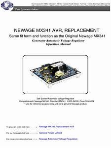 Newage Mx341 Automatic Voltage Regulator
