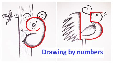 drawing  numbers youtube