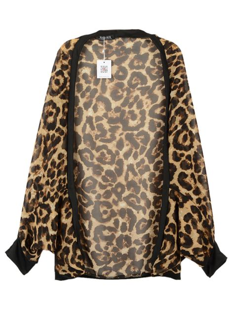leopard print chiffon kimono from midnight bandit kimonos