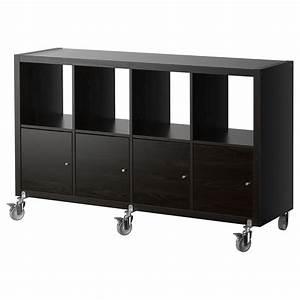 Ikea Möbel Bestellen : kallax regal mit 4 t ren und rollen schwarzbraun jetzt ~ Michelbontemps.com Haus und Dekorationen