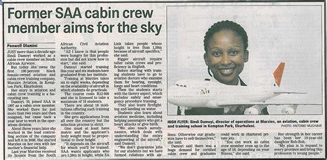 cabin crew member former saa cabin crew member aims for the sky sowetan