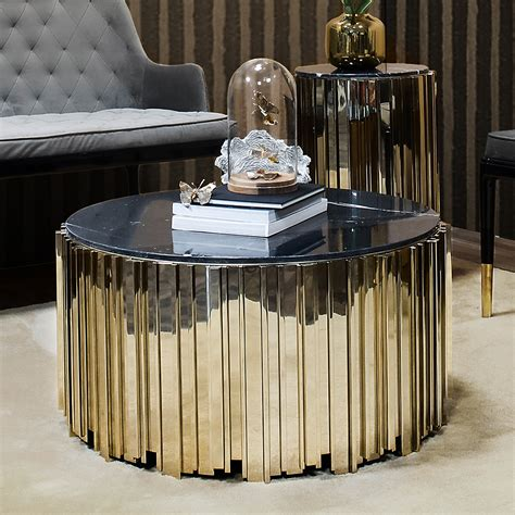 Find something extraordinary for every style, and enjoy free delivery on most items. Eden Empire Gold Round Coffee Table - Robson Furniture