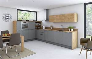 Ikea Küchen Beispiele : moderne kuechen eiche graue fronten edelstahl griffe k chen moderne k che k che und k che eiche ~ Frokenaadalensverden.com Haus und Dekorationen