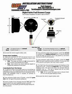 Glowshift Digital Series Fuel Pressure Gauge User Manual