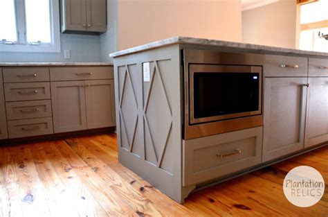microwave in kitchen island brick cottage after kitchen plantation relics 7491