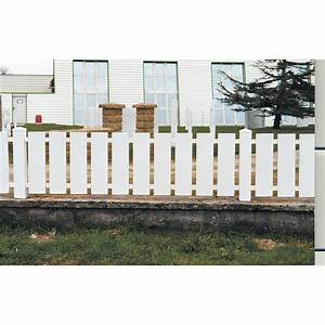 cloture pvc nantes naterial blanc h80 x l200 cm leroy With barriere de jardin pvc