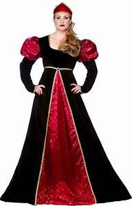 Medieval Queen Plus Size Costume (EF2147)- plus size ladies Medieval fancy dress costume