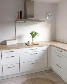 Weisse Küche Mit Holzarbeitsplatte : 1001 wohnideen k che f r kleine r ume wie gestaltet man kleine k chen k chen pinterest ~ Eleganceandgraceweddings.com Haus und Dekorationen