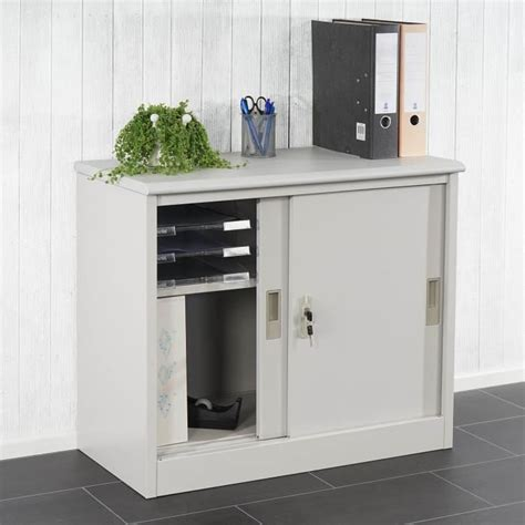 armoire bureau rangement classeur coulissant achat