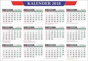Kalender 2018 Masehi 1439 Hijriyah Indonesia Lengkap
