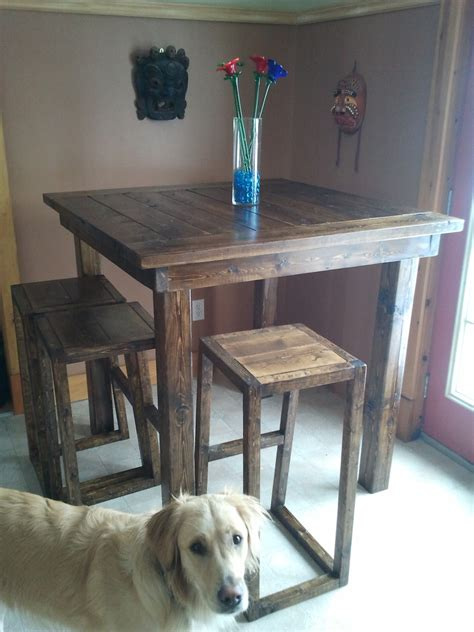 ana white pub style table diy projects