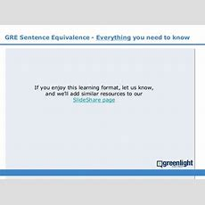Gre Sentence Equivalence  Lessons And Practice