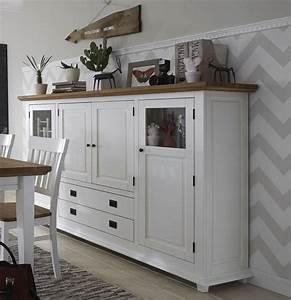 Wohnzimmermöbel Weiß Holz : highboard wohnzimmerm bel wei wildeiche 4 t rig roxanne ~ Frokenaadalensverden.com Haus und Dekorationen