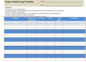 Log Sheet Template Excel Project Activity Log Excel Template Project Management Templates And Certification