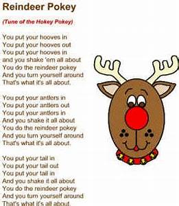 Reindeer pokey song School Pinterest