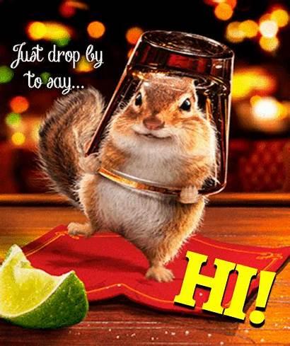 Hi Ecard Very Squirrel Cards Ecards Happy