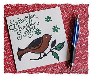 craft greeting cards   occasions singing bird