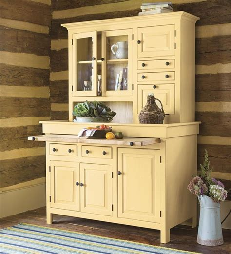 Painted Kitchen Furniture by Large Painted Finish Conestoga Cupboard Plow And Hearth