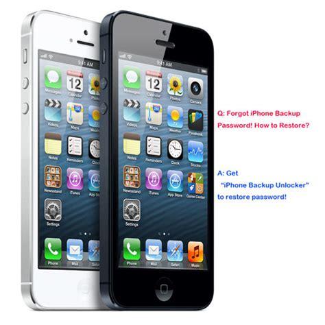 forgot iphone password forgot iphone backup password how to restore iphone