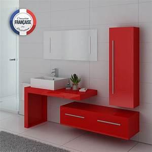 Meuble Vasque De Salle De Bain : meuble de salle de bain rouge coquelicot meuble sous vasque rouge dis9250 distribain ~ Melissatoandfro.com Idées de Décoration