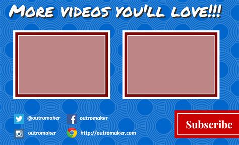 outromaker create  youtube outro image template