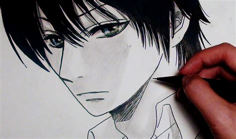 anime cool boy drawing cool anime drawings how to draw a