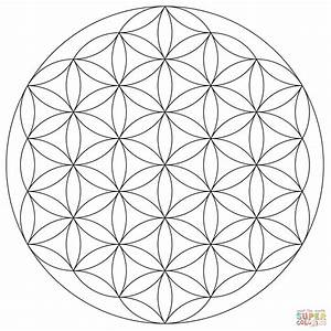 Flower of Life Mandala coloring page | Free Printable ...