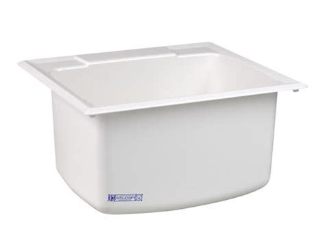 mustee 25 in x 22 in fiberglass self rimming utility sink