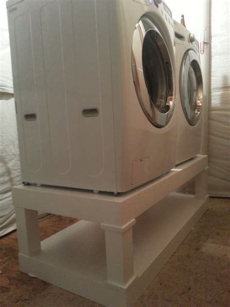 washer dryer pedestal white washer and dryer pedestal diy projects