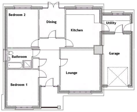 fresh bedroom bungalow design bedroom bungalow ground floor plan fresh 2bedbung
