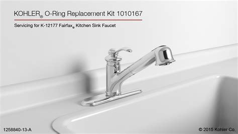kitchen sink ring kohler fairfax pull out kitchen sink faucet o ring 2863