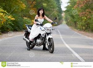 bride on motorcycle royalty free stock images image With motorcycle wedding dress