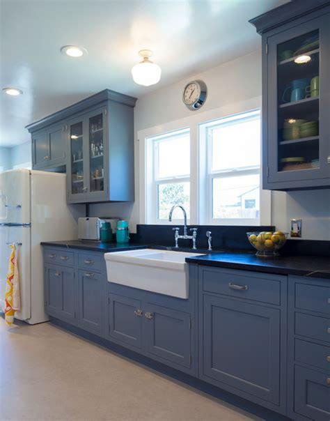 vintage galley kitchen vintage blue galley kitchen traditional kitchen san 3196