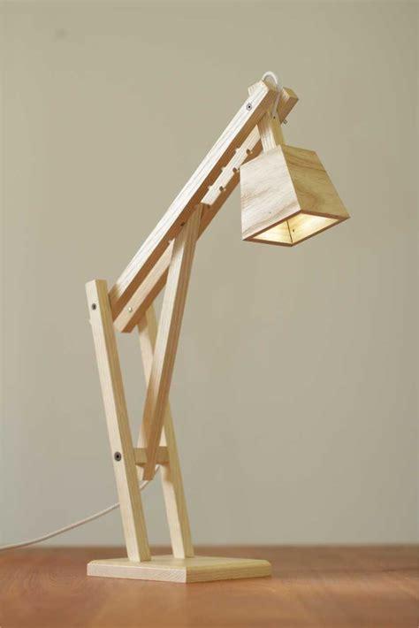 wolfe maiden wooden desk lamp abajur de madeira