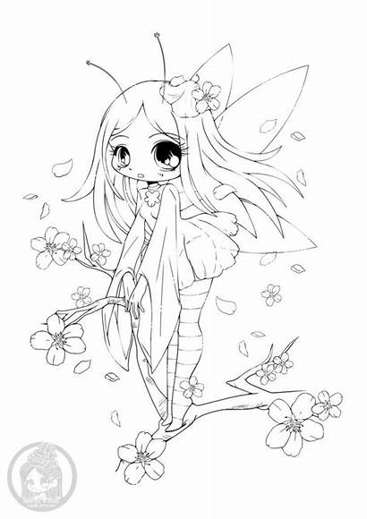 Coloring Chibi Pages Animal Colouring Adult Anime