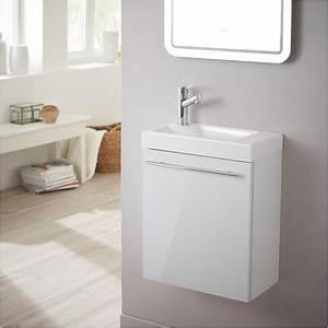 Lave Main Pour Wc : meuble lave mains design blanc laqu pour wc salle de ~ Premium-room.com Idées de Décoration