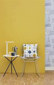 La couleur jaune moutarde nouvelle tendance dans l for Ordinary deco mur exterieur maison 11 decoration salon jaune moutarde