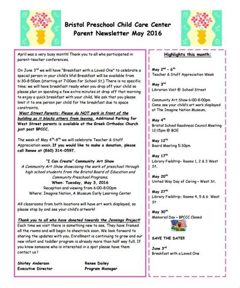 sample preschool newsletter 5 free for word pdf 780 | Clover Preschool Newsletter