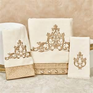 Bathroom Towel Bar Sets by Monaco Embroidered Bath Towel Set