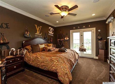 louis vuitton bedroom  texas home  sale takes fashion